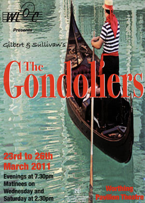 programme - the gondoliers