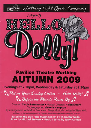 programme - hello dolly