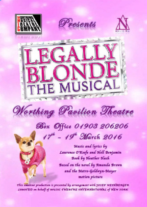 programme - legally blonde the musical